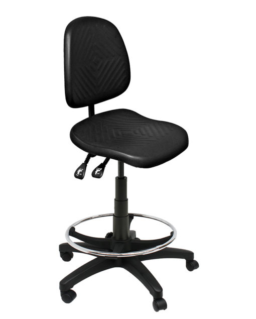Clam Square Drafting Chair Angle LR