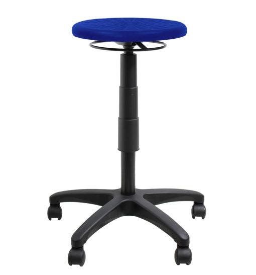 Falt pu ring adjust stool blue up