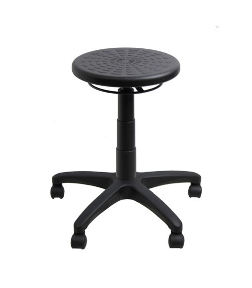 Falt pu ring adjust stool black up