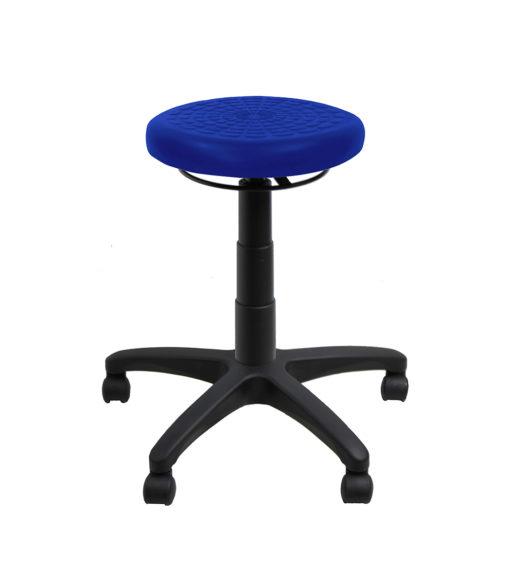 Falt pu ring adjust stool blue down