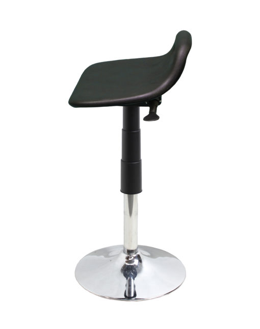 Sit stand trumpet stool side