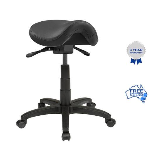 Black saddle stool