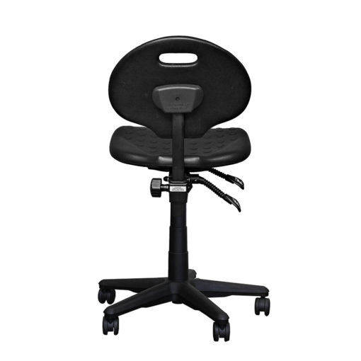 Clam round standard gas trut chair black back