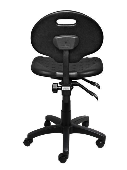 Clam round standard gas trut chair black back LR
