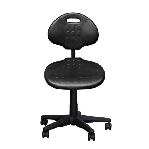 Clam round standard gas trut chair black front