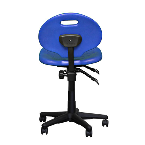 Clam round standard gas trut chair blue back