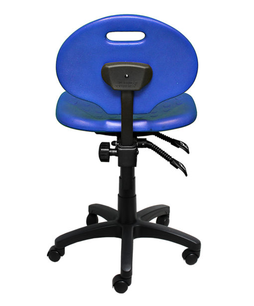 Clam round standard gas trut chair blue back LR