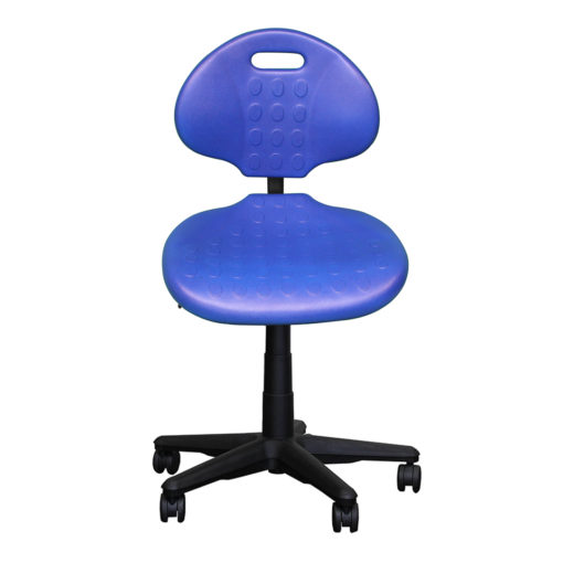 Clam round standard gas trut chair blue front