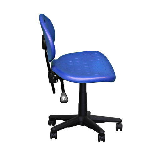 Clam round standard gas trut chair blue side