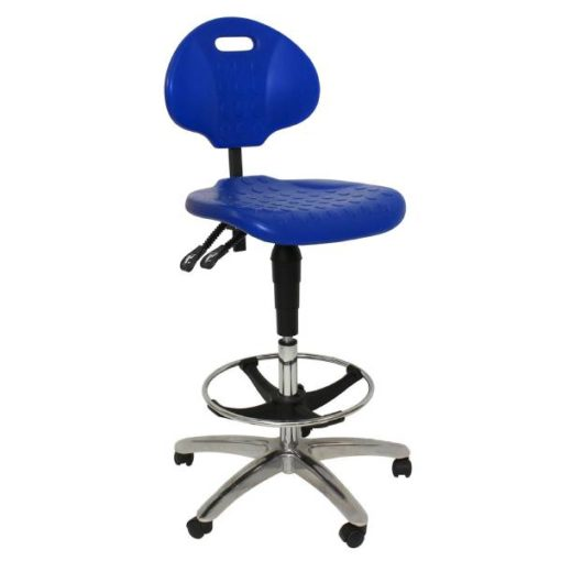 Blue Clam Round Drafting Chair