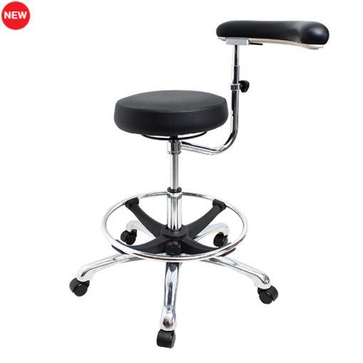 Apollo medical stool with boomerang arm
