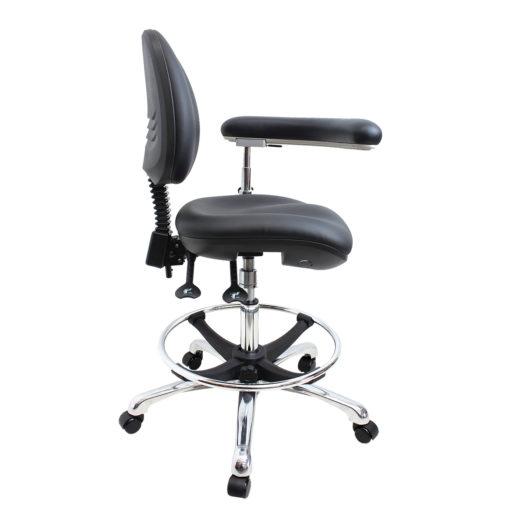 Gala Lab Medical Chair Alloy Star Base left side