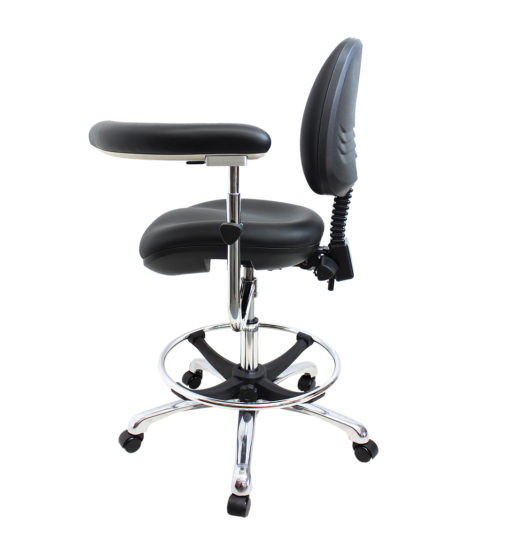 Gala Lab Medical Chair Alloy Star Base right side