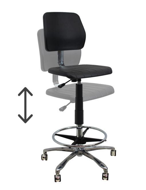 Medical Drafting Chair height adjustment LR